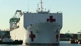 USNS Mercy eases the strain on the health care system in Los Angeles