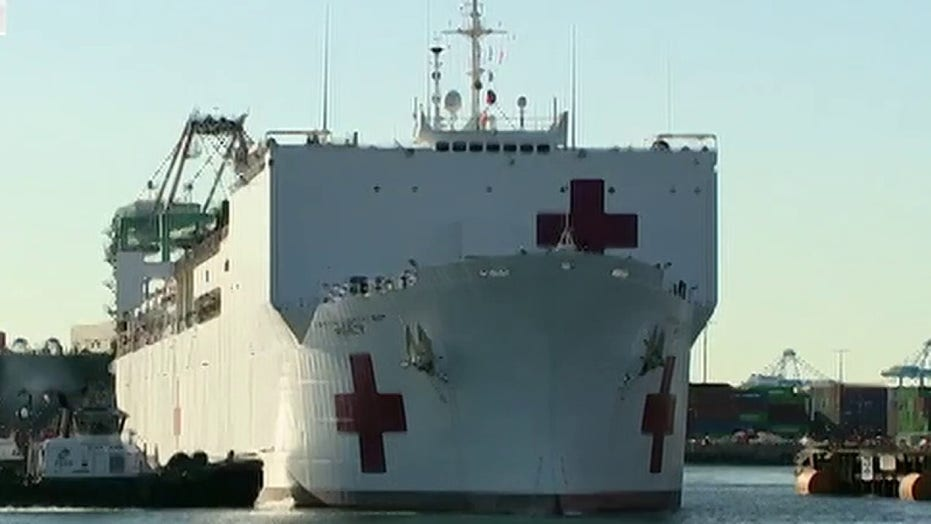 USNS Mercy eases the strain on the healthcare system in Los Angeles