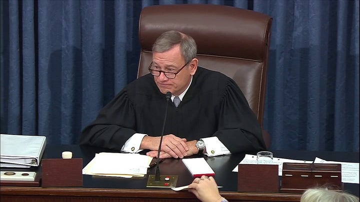 Elizabeth Warren irks John Roberts with impeachment question about 'legitimacy of Chief Justice and Constitution'