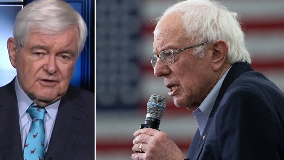 Newt Gingrich says the Iowa caucuses process is rigged against Bernie Sanders