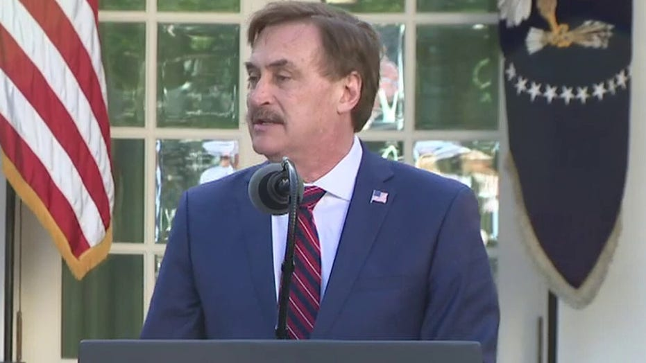 MyPillow's Mike Lindell praises President Trump's leadership, encourages Americans to read their Bibles