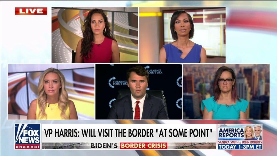 VP Kamala Harris has to take 'responsibility' for the border: 查理·柯克