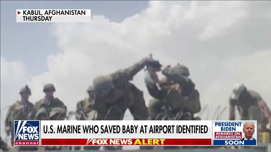 US Marine who saved baby at Kabul airport identified
