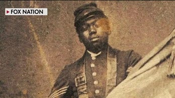 'Guarding Old Glory' honors first black Medal of Honor recipient