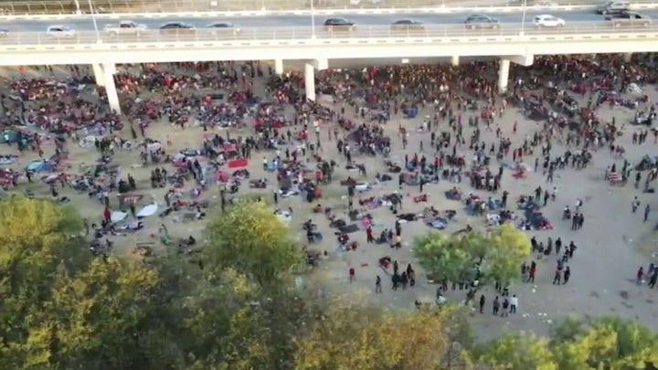 'The Five' slam Biden over thousands of migrants sheltering under Texas bridge