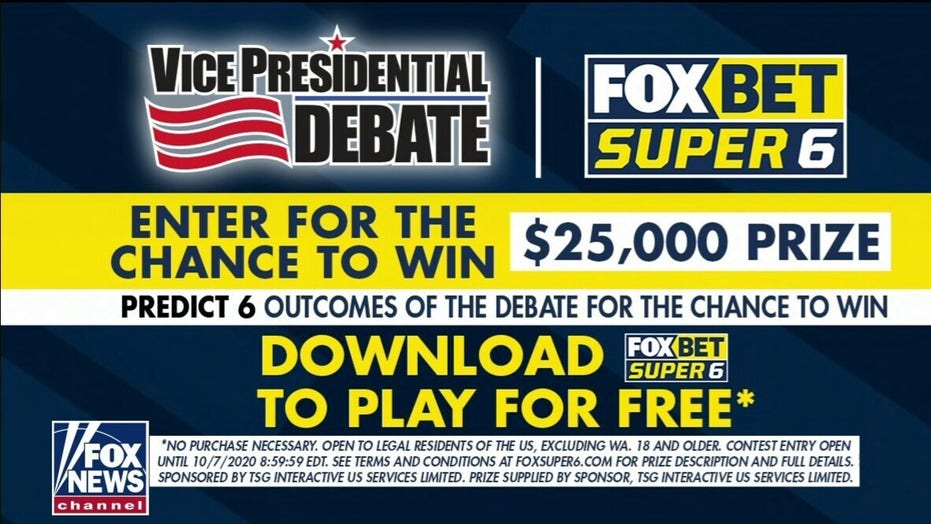 Fox Bet Super Six returns for VP debate, viewers can win cash with correct predictions