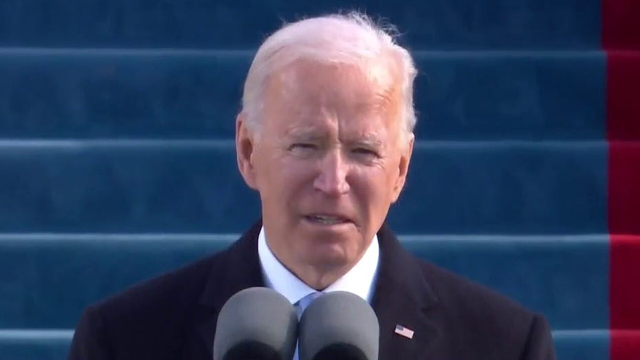 President Biden calls for an end to 'uncivil war' in inaugural address
