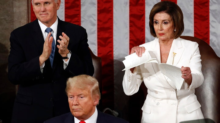 Nancy Pelosi says ripping up Trump's State of the Union was 'the courteous thing to do'