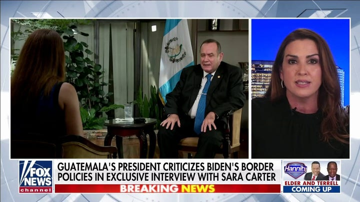 Sara Carter exclusive interview with Guatemalan president