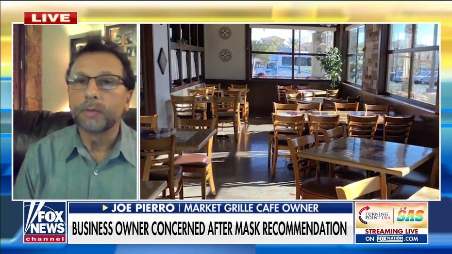 Las Vegas cafe owner says he and his employees are 'shocked' by renewed mask mandate