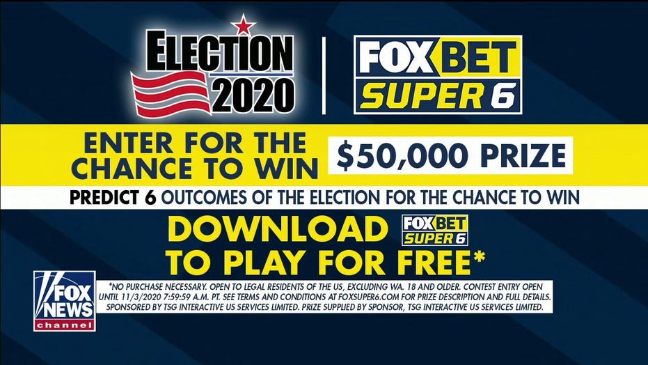 Fox News-kykers kan wen $  50G met FOX Bet Super 6 Verkiesing 2020 spel