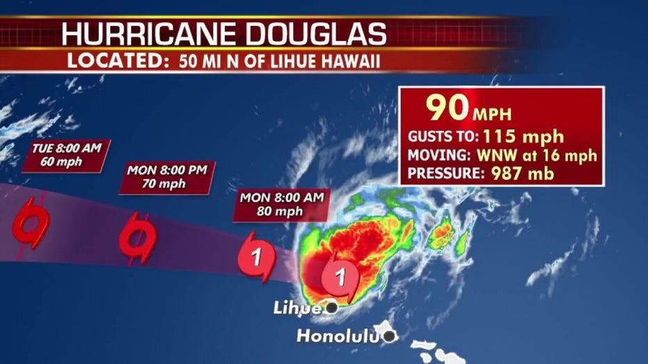 National forecast for Monday, July 27: Tracking Hurricane Douglas