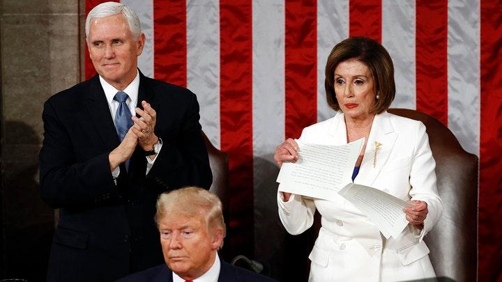 Pelosi facing backlash for ripping up Trump speech
