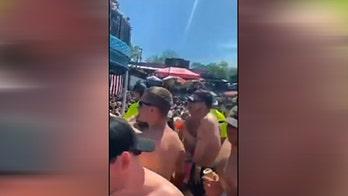 Crowds gather a bar in Osage Beach