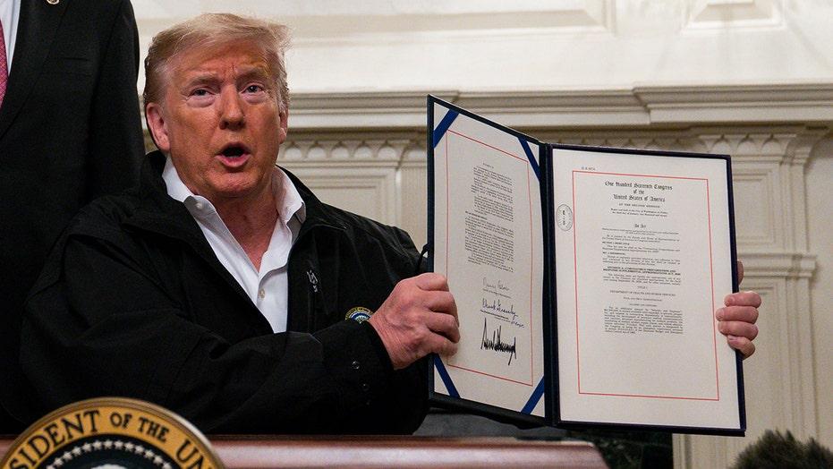 President Trump signs $8.3B coronavirus spending bill
