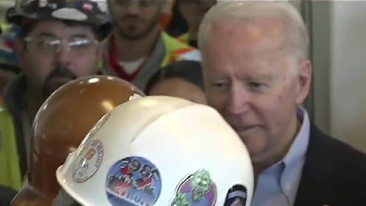 Autoworker in Michigan confronts Joe Biden on his stance on gun rights