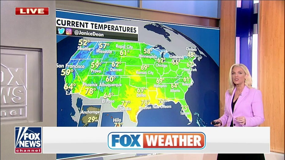 Stormy weather forecast for Plains, cooler temperatures to move into Northeast