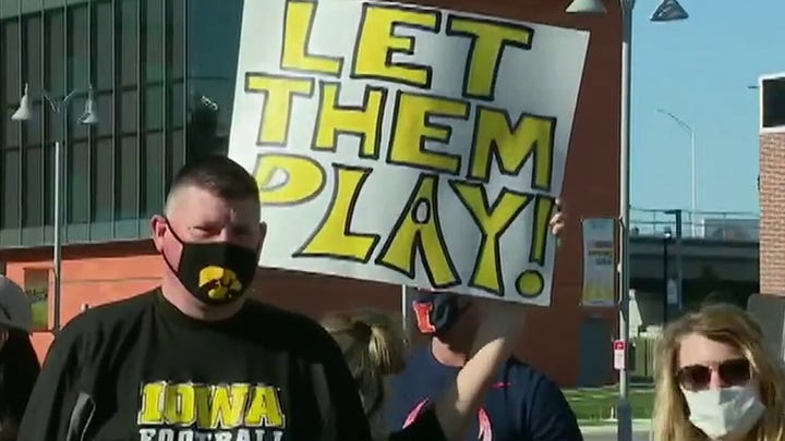 Big Ten parents demand return of football in protest outside conference headquarters