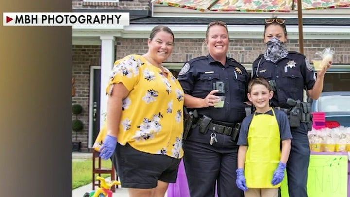 South Carolina boy sells lemonade to benefit law enforcement