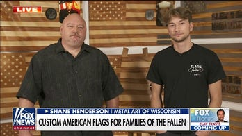 Wisconsin father and son create custom American flags for families of soldiers killed in Afghanistan