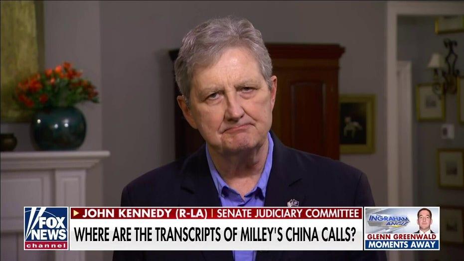 Sen. John Kennedy: Gen. Milley a 'smoked turkey' if China allegations are true