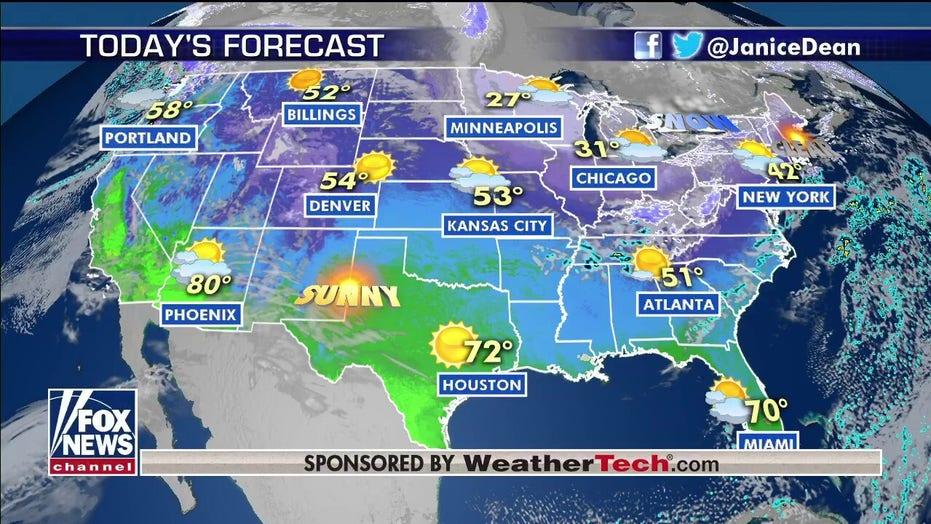 National forecast for Friday, February 28