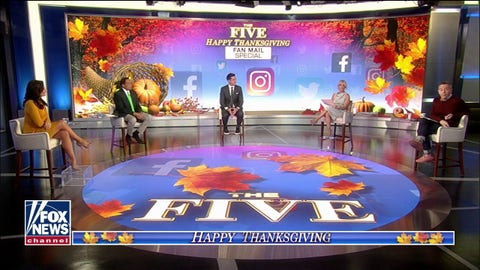 Fox News hosts reflect on childhood heroes in Thanksgiving edition of 'The Five'