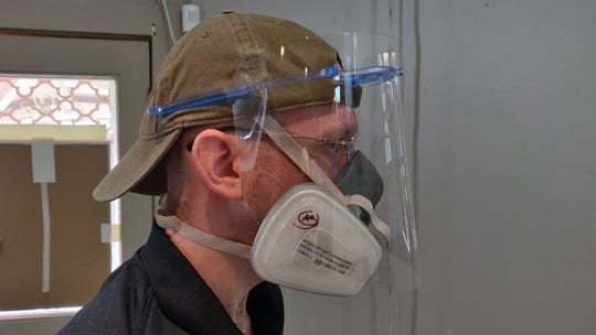 New Orleans artist producing thousands of face shields for health care workers