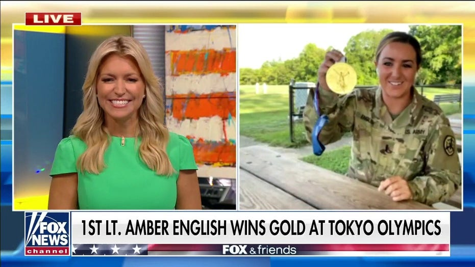 Army officer Amber English brings home gold medal after record Olympic performance: 'I'm very, very humbled'