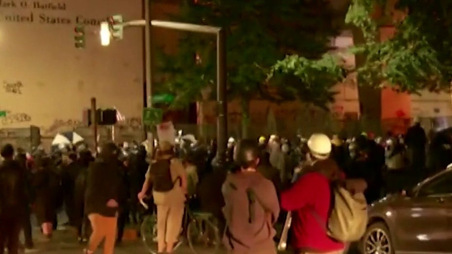 Federal agents make aggressive sweep through Portland on 57th straight night of unrest