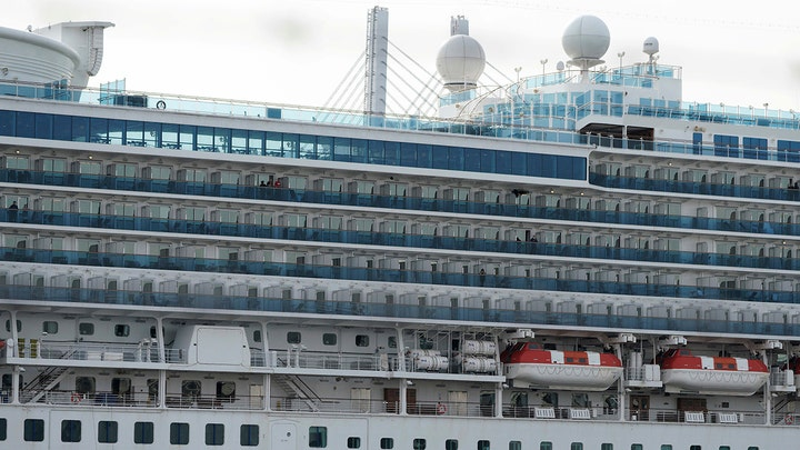 Cruise ship docks in New Jersey carrying passengers who will be tested for the coronavirus