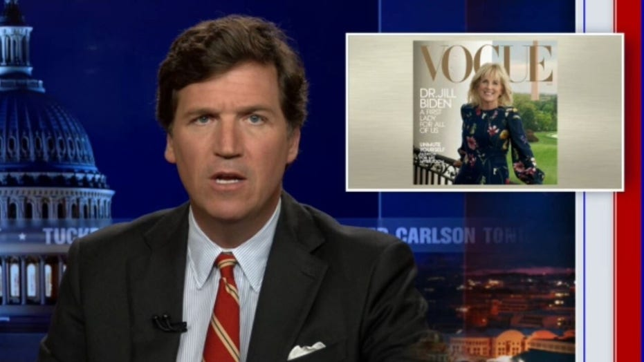 Tucker compares Vogue's coverage of Dr. Jill to North Korea state media