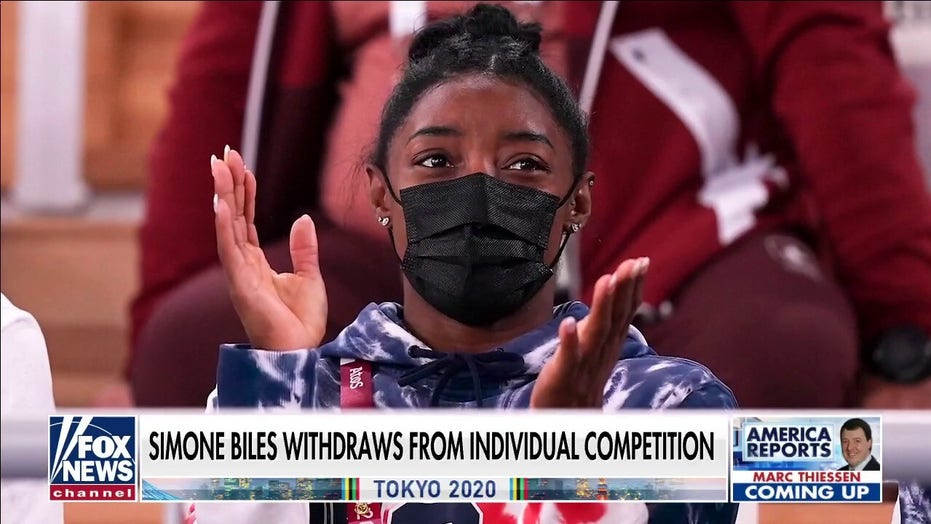 Simone Biles addresses fans after withdrawing from Olympic events