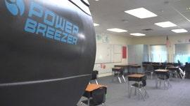 Schools utilize power fans to combat COVID-19