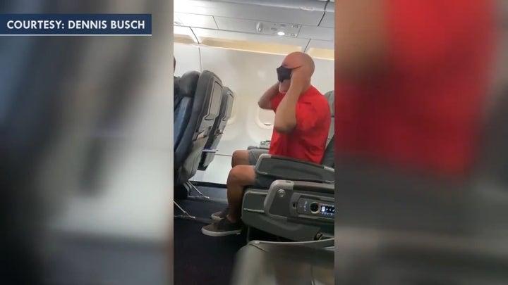 Unruly American Airlines passenger growls at flight crew, shouts 'Joe Biden, veramente?'
