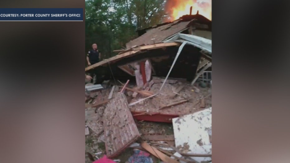 Dramatic video shows Indiana child being rescued following home explosion
