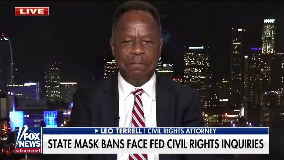 Leo Terrell blasts 'political witch hunt' by Biden admin against states opposing school mask mandates