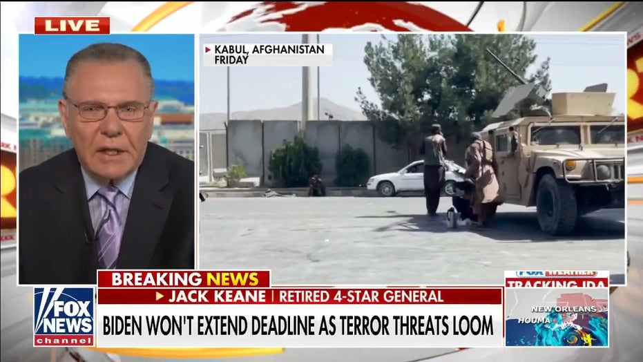 Gen. Jack Keane: Terror groups in Afghanistan are likely 'complicit' in their anti-Americanism