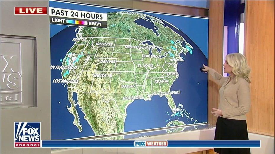 Western US facing snow, cooler air and rain this week