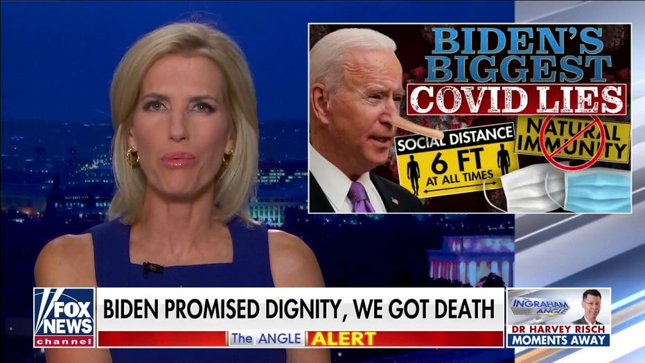 Ingraham: Biden has presided over a year of death, and the media is covering for him