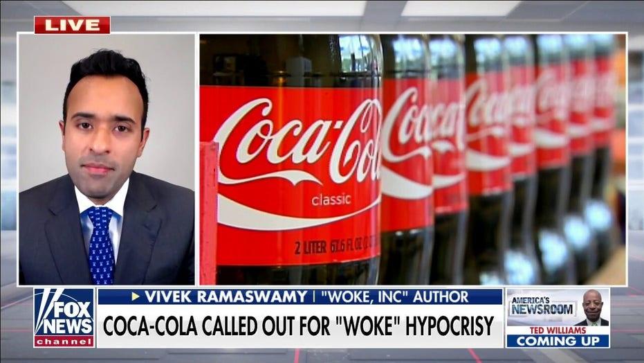 Coca-Cola blowing 'woke smoke' to hide their own hypocrisy: Vivek Ramaswamy