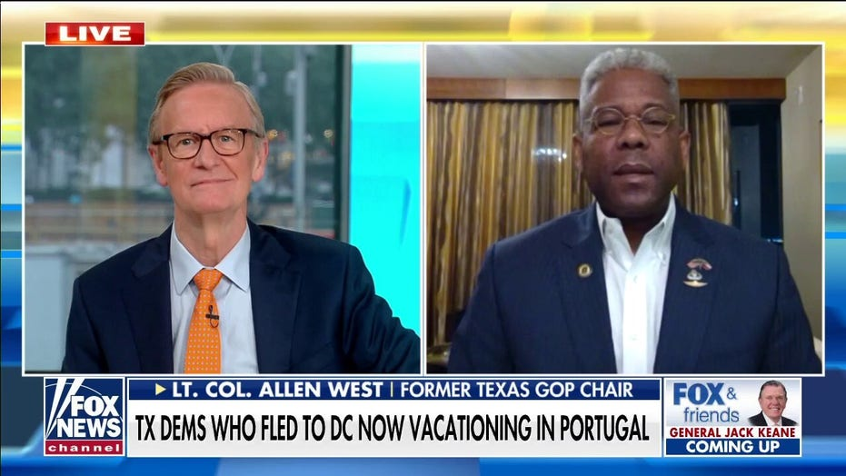 Allen West calls out 'amazing hypocrisy' of Texas Dems who fled to DC now vacationing in Portugal