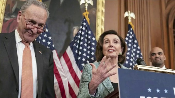 Democrats and Republicans battle over contents of stimulus bill