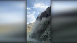 Rockslide in Idaho sends boulders crashing down on highway
