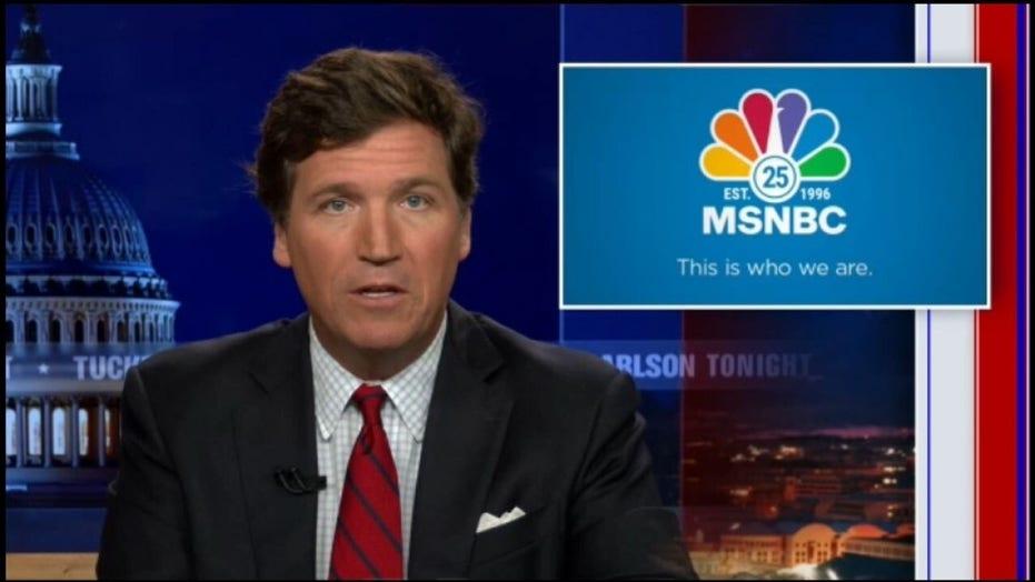 Tucker Carlson's birthday message to MSNBC