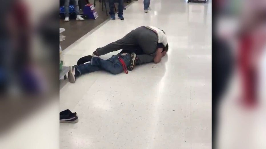 Walmart shopper subdues maskless man who allegedly threatened to assault customers, video shows