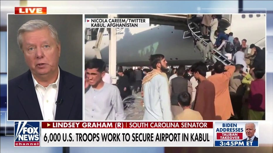 Lindsey Graham: Trump would not have withdrawn from Afghanistan if chaos was going to be the result