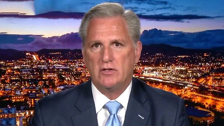 McCarthy blasts Biden's lack of leadership on Afghanistan: This would have never happened under Trump