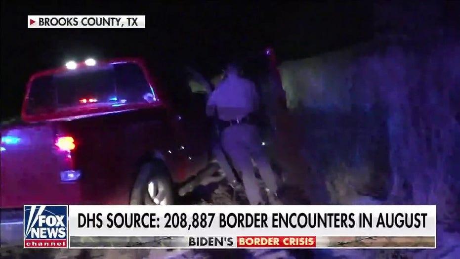 Drone footage shows thousands of migrants under bridge in Del Rio, Texas as local facilities overwhelmed