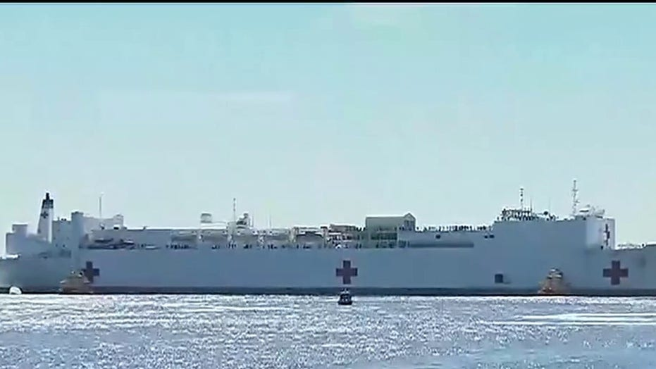 US Navy prepping hospital ship Mercy for arrival in Los Angeles